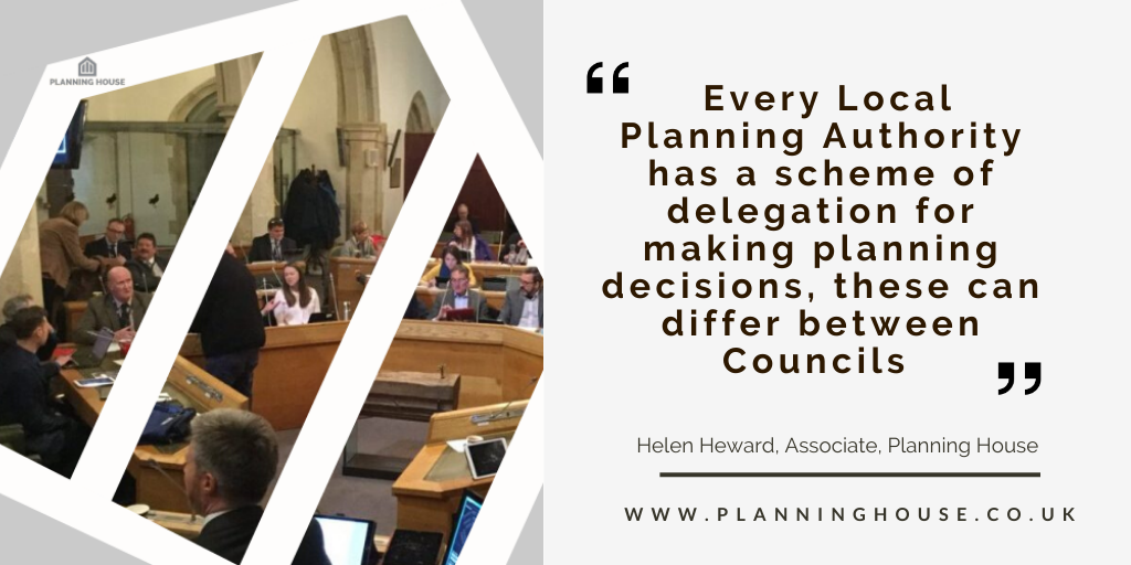 How are planning applications decided? Delegated v Committee Decisions