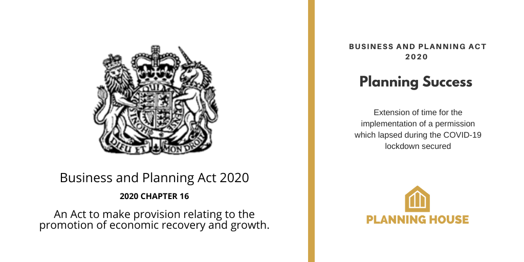 Business & Planning Act 2020 Success Chesterfield (Additional Environmental Approval)