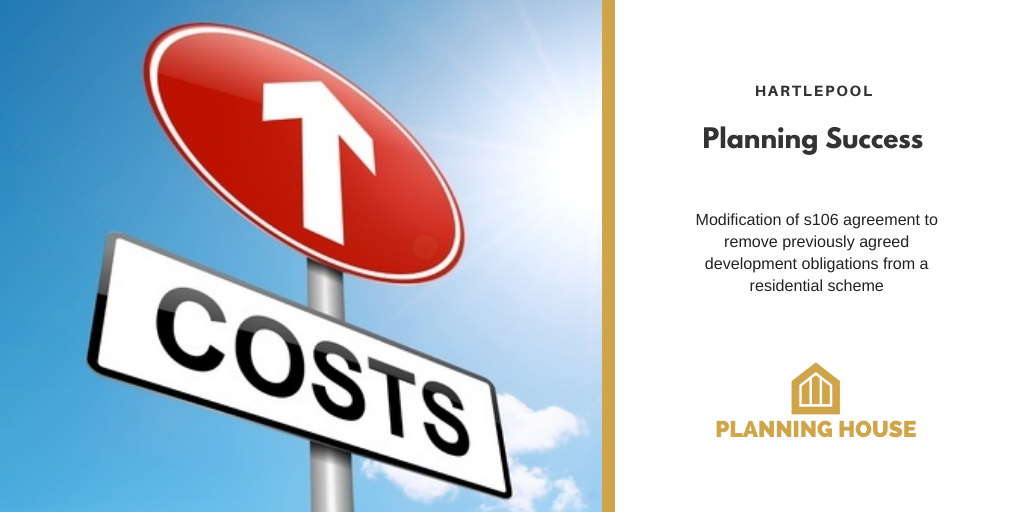 Planning Success – Modification of s106 legal agreement